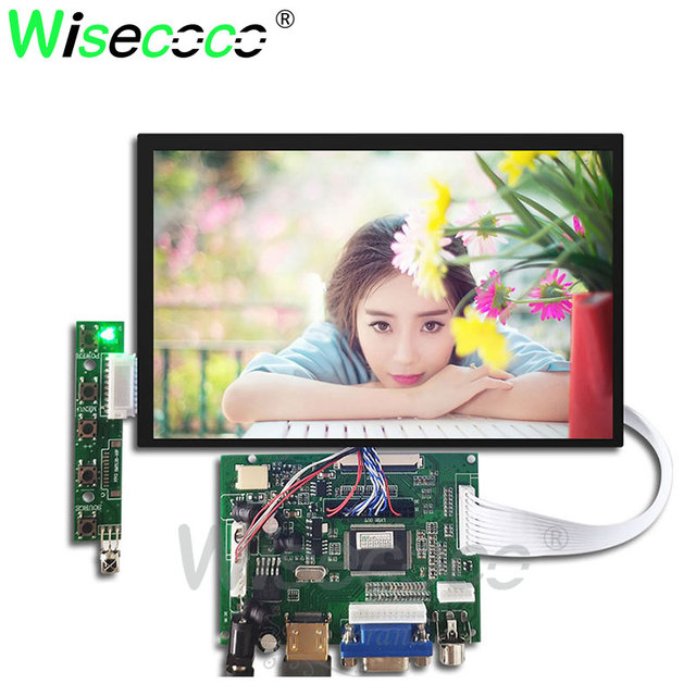 wisecoco 7 inch IPS touch LCD 1280*800 screen for raspberry pi N070ICG-LD1 with  HDMI+VGA+2AV Driver Board