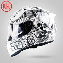 TORC Capacete Da Motocicleta nova Chegada Design de Moda Completa Rosto Corrida Capacetes DOT ECE Aprovado Capacete Casco Casque Moto