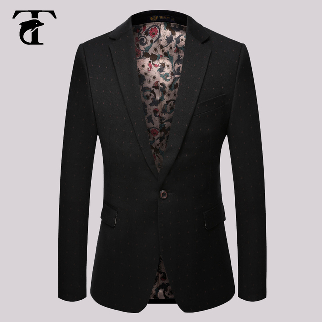 850ca61b8 Plus Size Men Blazer New Style Fashion business men Autumn Casual Dress  Slim Man Coat Jacket blazer men floral suit mens-in Blazers from Men's ...