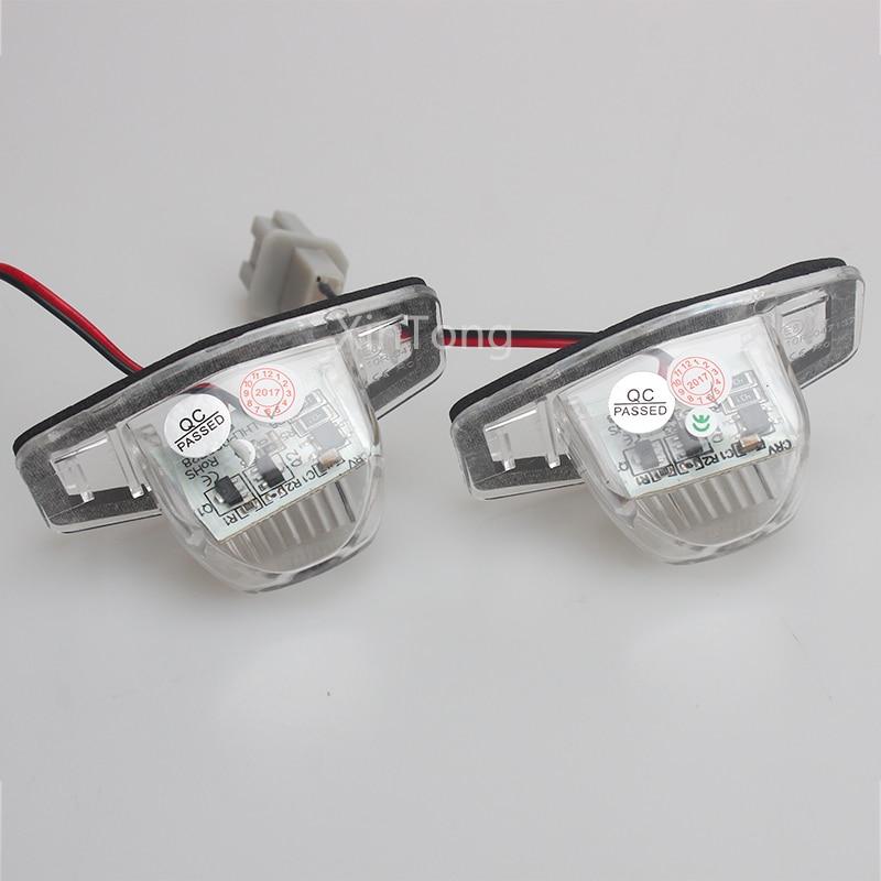Из 2 предметов белый светодиод номер Номерные знаки для мотоциклов Лампы для мотоциклов 18 светодиодов для Honda CRV Fit Jazz вариабельности сердечн...