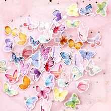 46pcs/box Color Butterfly DIY Sticker child diary sticker Photo album decoration stickers office stationery School Office Supply novelty gudetama lazy egg cartoon stickers diary sticker scrapbook decoration pvc stationery diy stickers school office supply