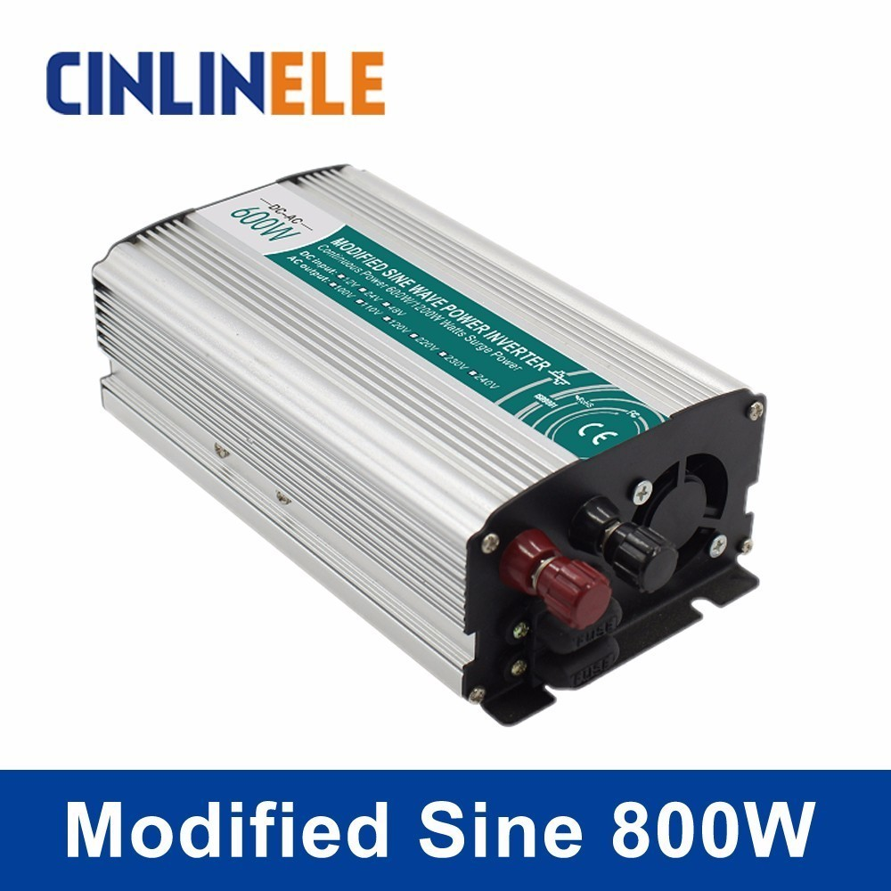 Smart Modified Sine Wave Inverter 800W CLP800A DC 12V 24V AC 110V 220V Smart Series Solar Power Off grid 800W Surge Power 1600W modified sine wave inverter 300w off grid dc 12v 24v to ac 110v 220v smart series solar power 300w surge power 600w