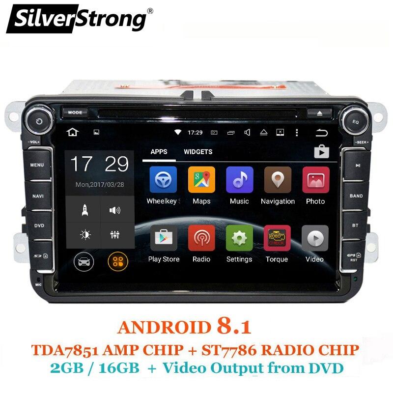 SilverStrong Android8.1 DVD Dell'automobile per Volkswagen Golf mk6 5 Polo Tiguan Passat B6 5 cc per skoda octavia fabia 801x3