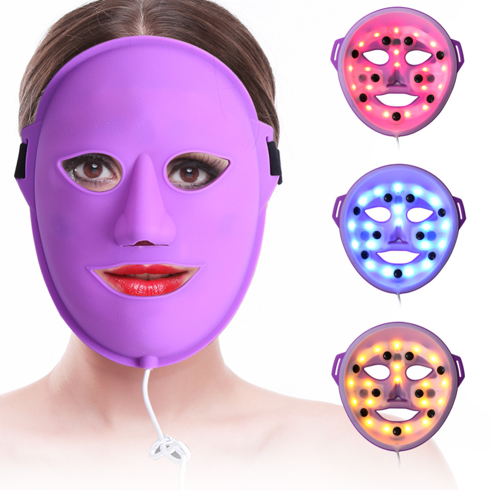 LED Light Photon Mask Facial Skin Care Vibration Massage Skin Rejuvenation China Skin Care Collagen Whitening Anti Wrinkle Mask 1 set professional face care diy homemade fruit vegetable crystal collagen powder facial mask maker machine skin whitening