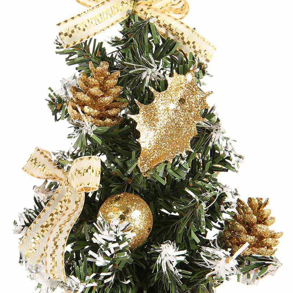 Искусственная Настольная мини-елка украшения фестиваль миниатюрное Дерево 30 см детей