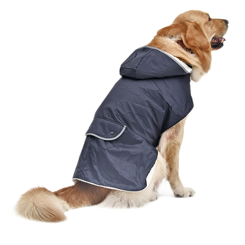 Blue Dog Clothes Coat Puppy Apparel Large Dogs Removable Hoodies ropa para perro Reflective Design roupa cachorro