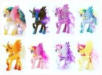 8 pz/lotto 14 cm hight molto bello bello grande famiglia cavallo Principessa Celestia Nightmare Luna giocattoli bambola