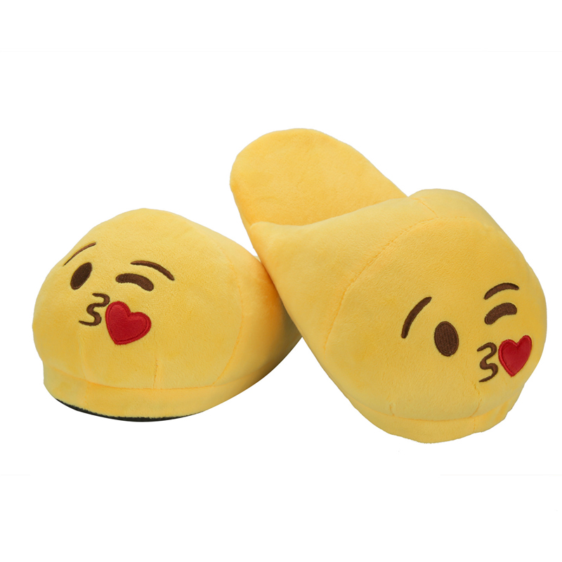 f6d63a62653 Plush Winter Emoji Slippers Unisex Cartoon Shoes Indoor Furry House Home  Slipper Anime Animal Cosplay Women Men Warm Shoes