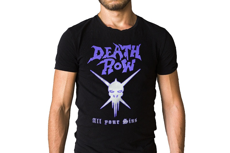 T Shirt Making Death Row All Your Sins Skull Logo MenS O-Neck Short Sleeve Funny T Shirt