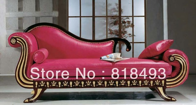 European style Chaise Lounge recliner chairsolid wooden high quality ...