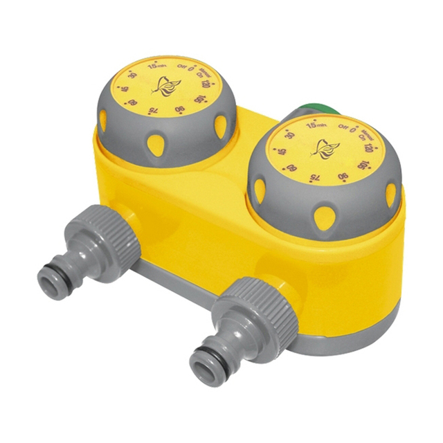 "Таймер для полива PALISAD 66197 ( Подкл. 1"", установка времени 10-120 мин, шаг регулировки длит. полива - 15 минут, из прочного пластика, в компл. переходник G1"" на внутреннюю резьбу G3/4"" )"