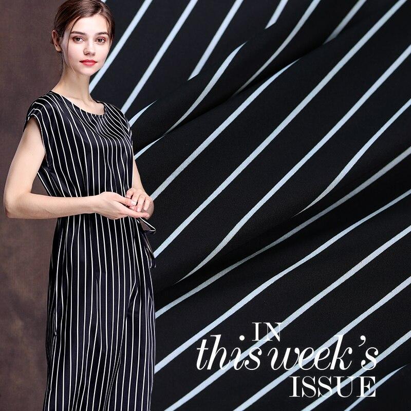 Digital inkjet silk stretch satin fabric 19mm anti-wrinkle breathable dress harem pants fabric silk fabric wholesale silk cloth