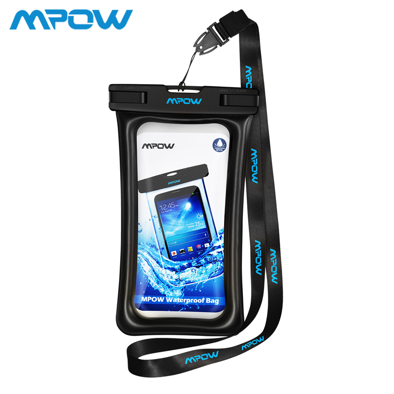 """Mpow PA077 Float-able IPX8 Waterproof Case Bag Universal 6.5 """" Phone Pouch Swim Take photo Underwater For iPhone Samsung Huawei"""