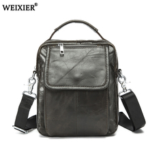 2019 New Fashion Vintage Genuine Leather Bag Men leather Bags Messenger Bag Man Casual Tote Shoulder Crossbody bags Handbags Men 2018 new men canvas casual bag multi purpose fashion handbags office single shoulder bags men s messenger bag bolsa masculina