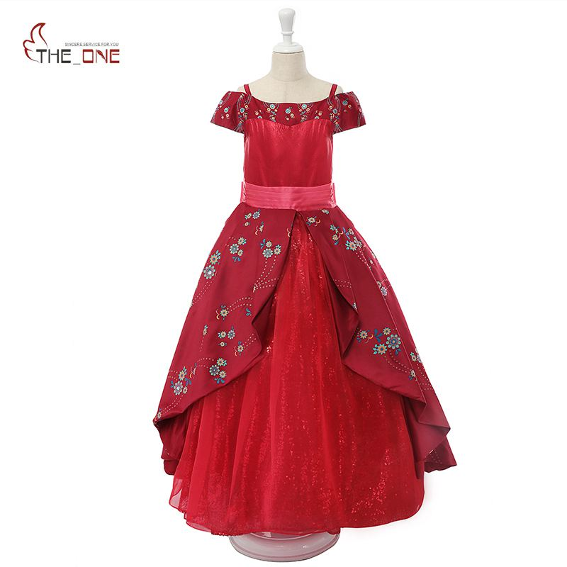 MUABABY Girls Elena of Avalor Costume Children Deluxe Elena Dress Off Shoulder Sequin Flower Princess Dresses Kids Party Ball elena kotyrlo space time dynamics of fertility and commuting