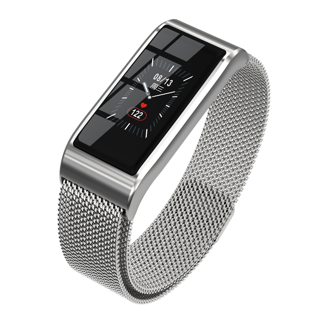 Elegant Style Color Screen Fitness Tracker with Alloy Mesh Band