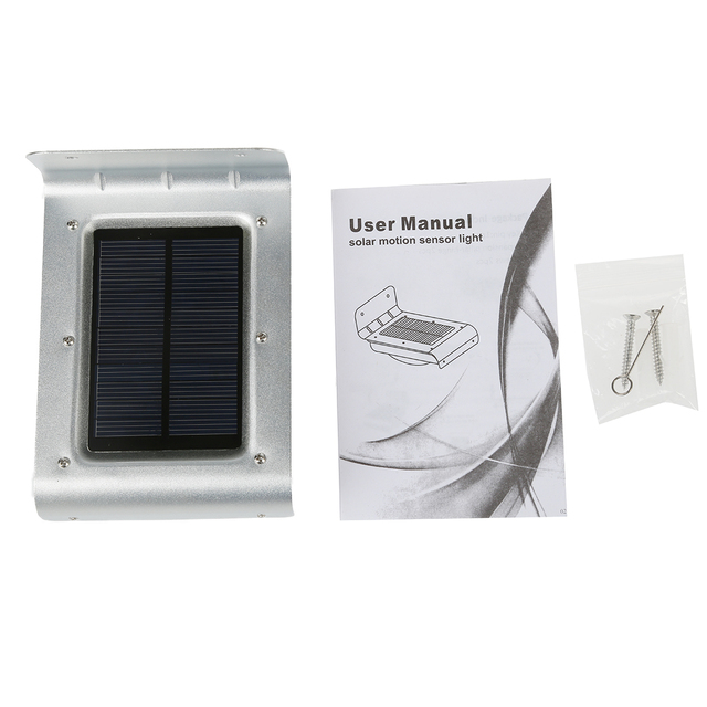 NFLC-Voice-activated lights - Solar lamp with 16 LEDs pearl sensor lighting outside garden path and wall yard light