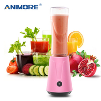 ANIMORE Portable Electric Juicer Blender Fruit Baby Food Milkshake Mixer Meat Grinder Multifunction Juice Maker Machine JU 02B