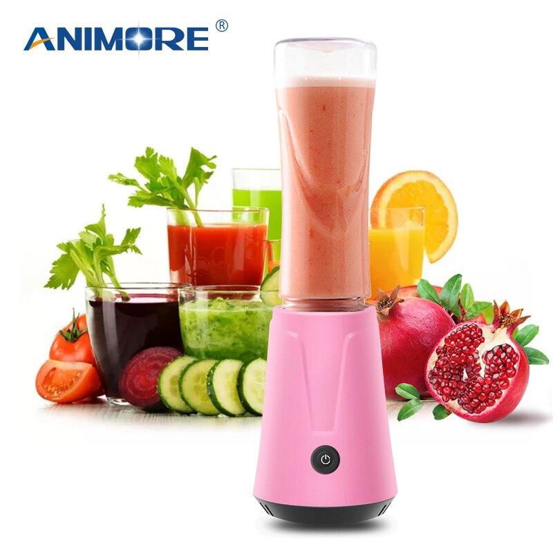 ANIMORE portátil exprimidor eléctrico licuadora fruta bebé comida batido mezclador picadora de carne multifunción jugo máquina de JU-02B