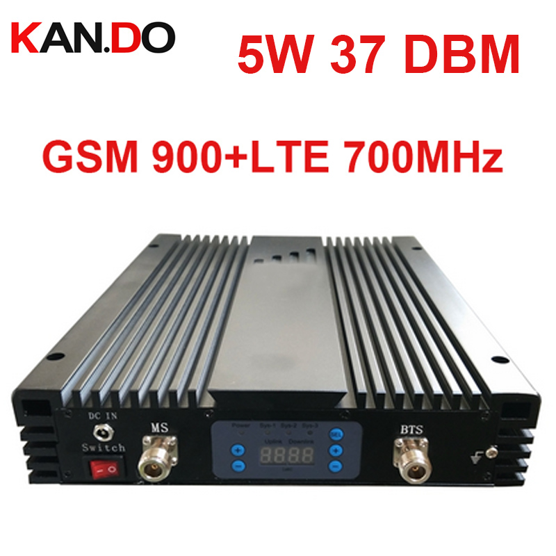 5W 37dbm 85dbi GSM+4G DUAL Band Repeater AGC/MGC 900MHZ+700MHz Signal Booster GSM Repeater Band 13 Lte 4G BOOSTER HIGH Quality