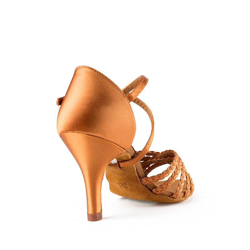 Image 5 - Latin dance shoes woman Dancing shoes for women girl Imported satin High quality professional dance shoes Deep skin Weaving AWL-in Dance shoes from Sports & Entertainment