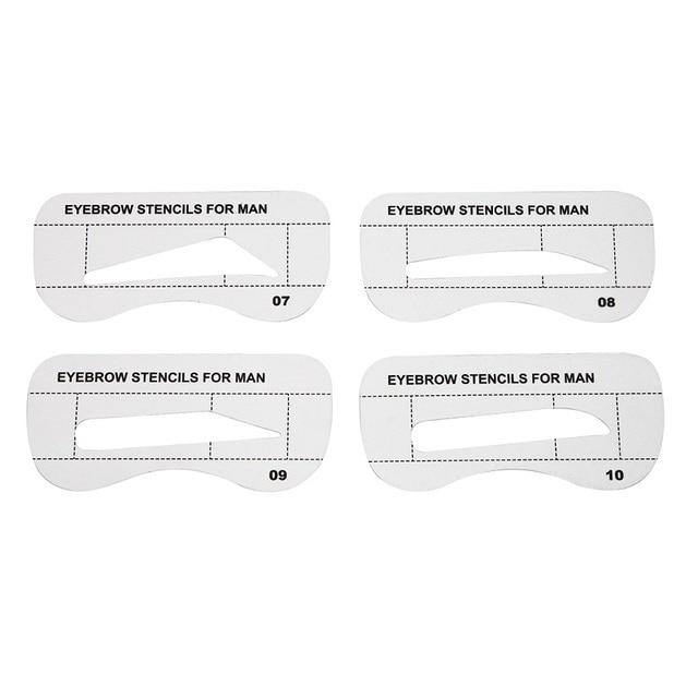 Luckyfine 10pcs Men Eyebrow Card Drawing Guide Card Brow Template Eyes Makeup Shaping Design Eyebrow Stencils Makeup Tools 2