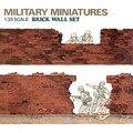 OHS Tamiya 35028 1/35 Pared de Ladrillo Conjunto Asamblea Militar Miniaturas Kits de Edificio Modelo