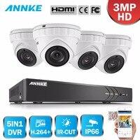 ANNKE 8CH 3MP 5in1 CCTV DVR HD 4 шт. 2048*1536 3MP TVI безопасности Камера открытый купол Камера дома видеонаблюдения Системы комплект
