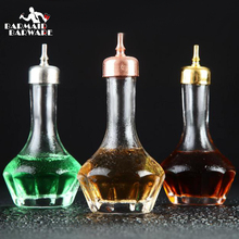 High Quality Bitters Bottle 30ml/50ml Glass Cocktail bitters bottle Silver/Copper/Gold