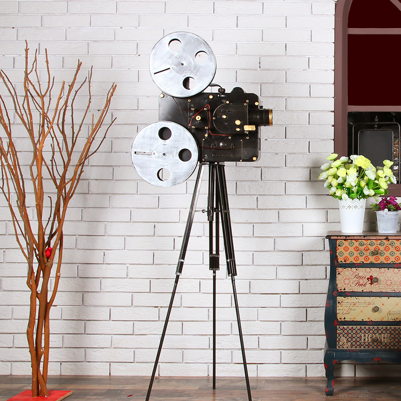 US $242 25 5% OFF 3 Style Vintage Classic Handmade Reminiscent Iron Art  Movie Projector Bioscope Model Craft Decoration Embellishment Furnishing-in