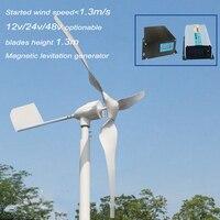 HAWT 800w MAX POWER 600W Horizontal Wind Turbine With MPPT 12V 24V AUTO Wind Solar Hybrid
