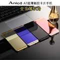 Original Anica A7 mini mobile Phone Ultrathin Luxury phone MP3 player Bluetooth 1.63inch credit card cell phone