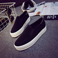 2017 Female Canvas Shoes Platform Shoes Women's Pedal Shoes Lazy Cotton-made Black Shoes Casual