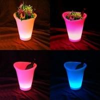 D25*W21*H28cm LED Flower Planter Pots illuminated Glowing Buckets IP65 Waterproof SK LF07 Skybesstech Free Shipping 10pcs/lot