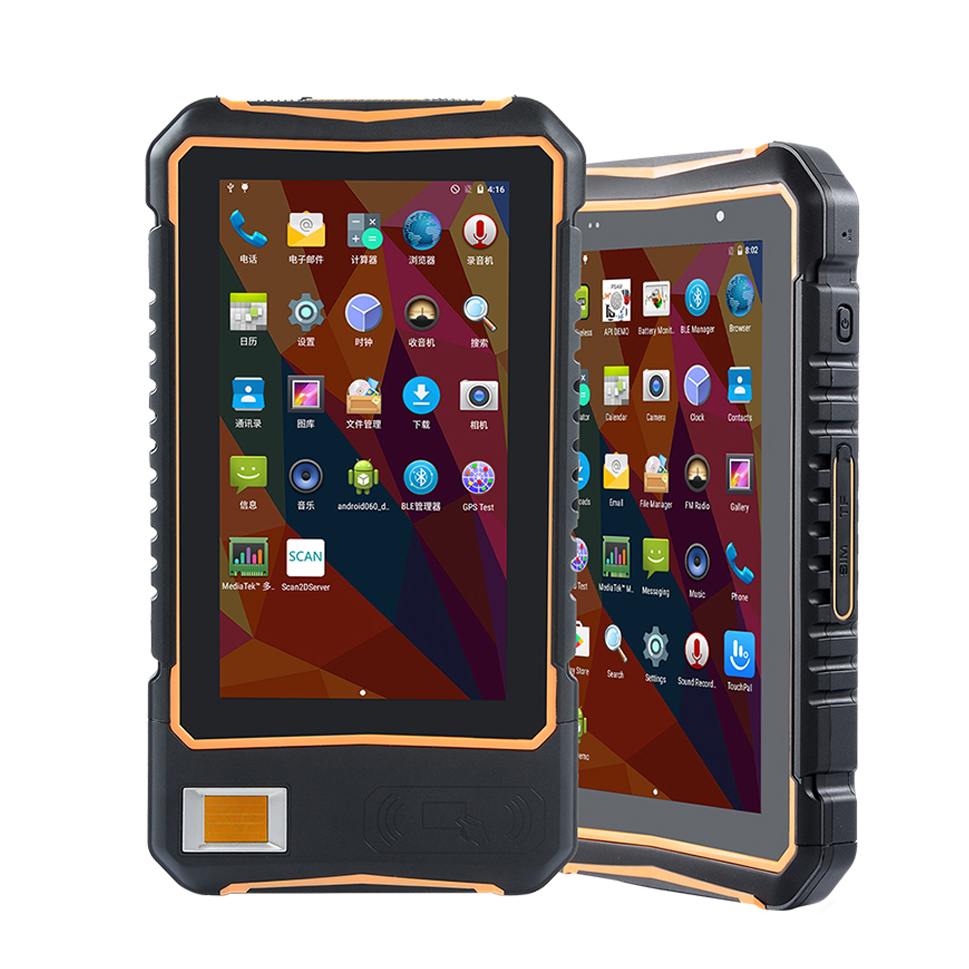7 Inch Outdoor Rugged Tablet PC Handheld Data Terminal 2D Barcode Scanner NFC Android Tablet With Fingerprinter Sensor