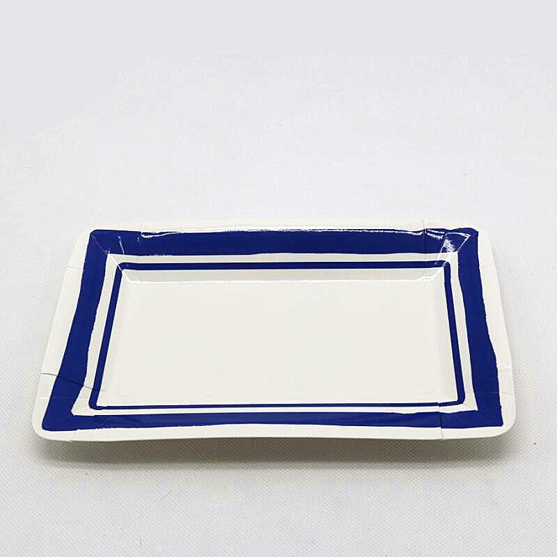 Free shipping 30pcs/lot Chinese rectangular paper plate Disposable paper plate party paper plates blue and white porcelain plate-in Disposable Party ...  sc 1 st  AliExpress.com & Free shipping 30pcs/lot Chinese rectangular paper plate Disposable ...