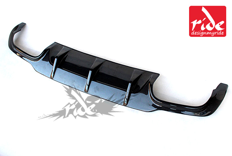 C Class Carbon Fiber rear lip spoiler Diffuser For Mercedes Benz W204 C180 C200 C250 C63 AMG No hole Sport Rear Bumper 2012 2014 in Bumpers from Automobiles Motorcycles