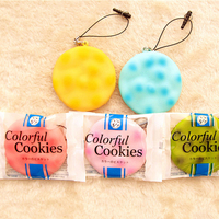 Biscuit squishy 6cm licensed package symphony toast pie cell phone charm wholesales squishies toys free shipping.jpg 200x200