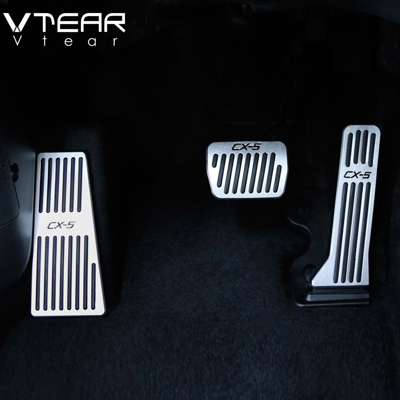 Vtear For Mazda CX5 CX-5 2019 2019 car accelerator Oil footrest Pedal Plate Clutch Throttle Brake Treadle Interior Accessories