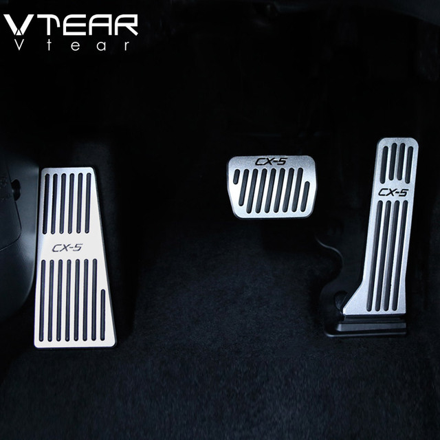 Vtear For Mazda CX5 CX-5 2017-2019 car accelerator Oil footrest Pedal Plate Clutch Throttle Brake Treadle Interior Accessories