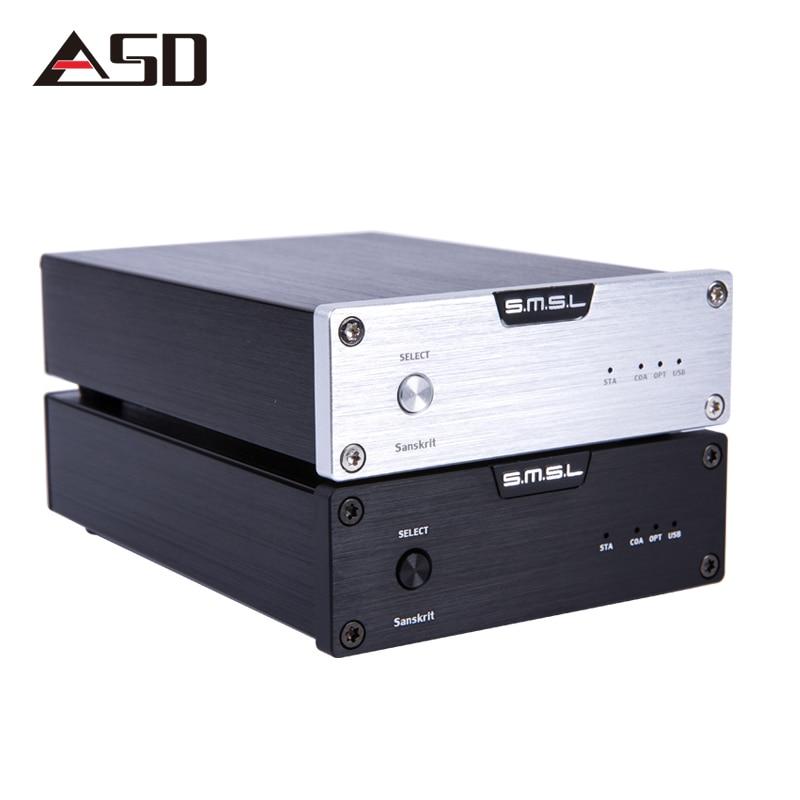 ASD SMSL Latest 6th Sanskrit USB DAC 32BIT/192Khz Coaxial SPDIF Optical Hifi Audio Amplifier Decoder With Power Adapter NEW fx audio dac x6 hifi 2 0 digital audio decoder dac input usb coaxial optical output rca amplifier 16bit 192khz dc12v