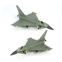 1/100 Scale Alloy Fighter Model Aircraft Toys Typhoon Fighter EF 2000 Military Aircraft Plane Decoration Plane for Kid Gifts