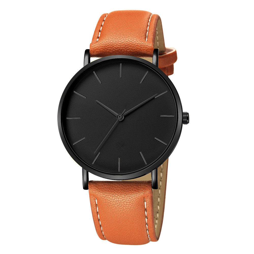 2019 Fashion Men Alloy Case Synthetic Leather Analog Quartz Sport Watch Mens Watches Top Brand Luxury Relogio Masculino #30 Watches