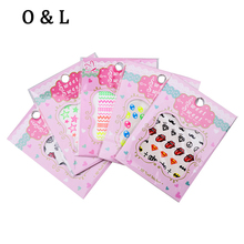 3D Nail Art Stickers,1sheet Flourescent Cartoon Words Mix Designs Nail Tips Decals,Manicure Adhesive Nail Decoration Tools