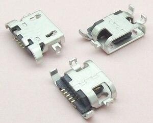 Image 2 - 1000pcs מיקרו USB 5pin כבד צלחת 1.28mm שטוח פה ללא קרלינג צד נקבה מחבר עבור Lenovo טלפון נייד מיני USB שקע