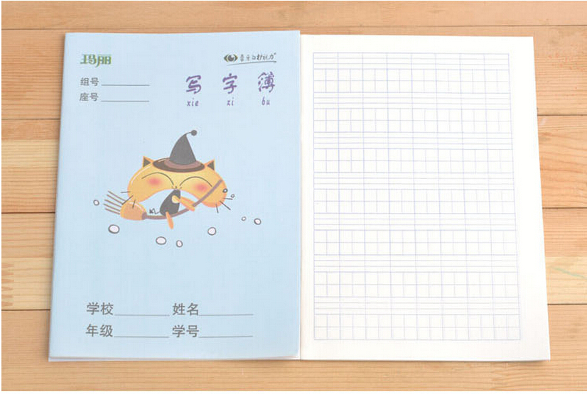 US $7 11 11% OFF|5 pcs/set ,Chinese hanzi exercise book for kids and baby,  Chinese Grid workbook ,characters writing book for children-in Books from