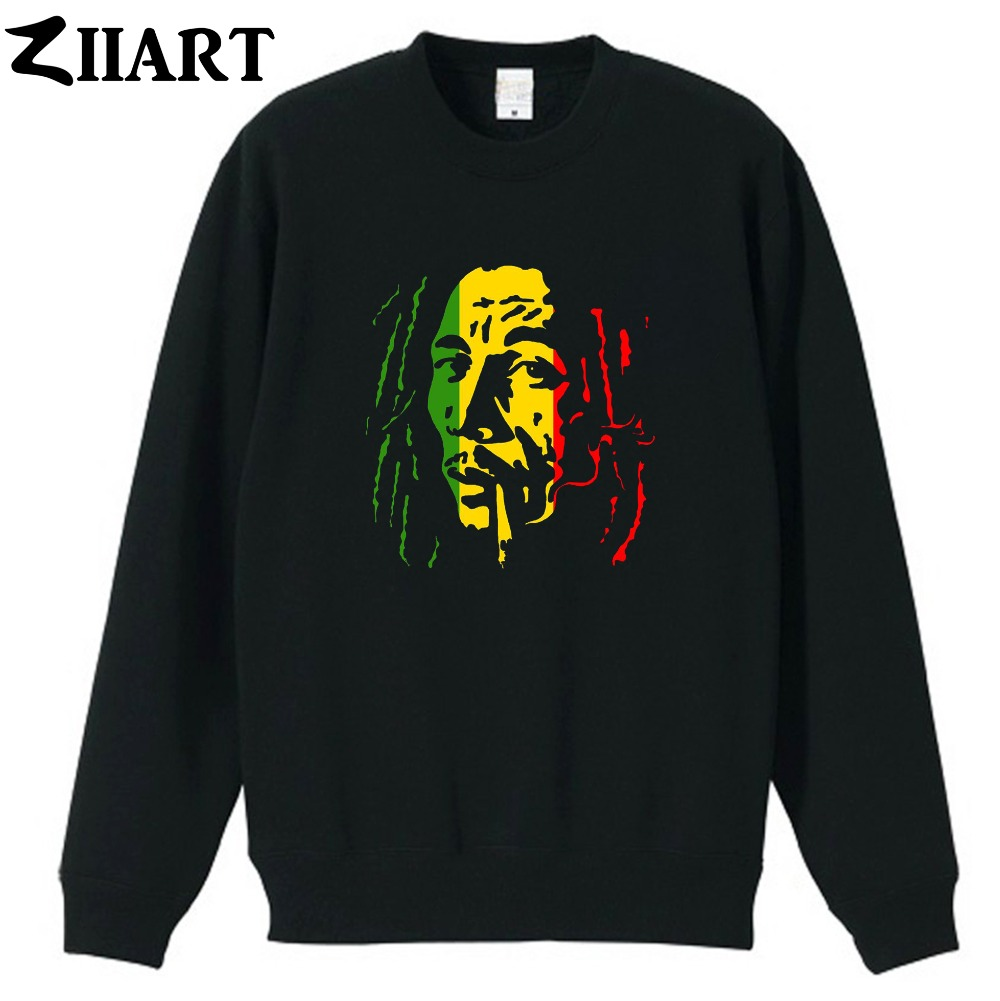 bob marley Smoking cigarette couple clothes girls woman cotton autumn winter fleece Sweatshirt
