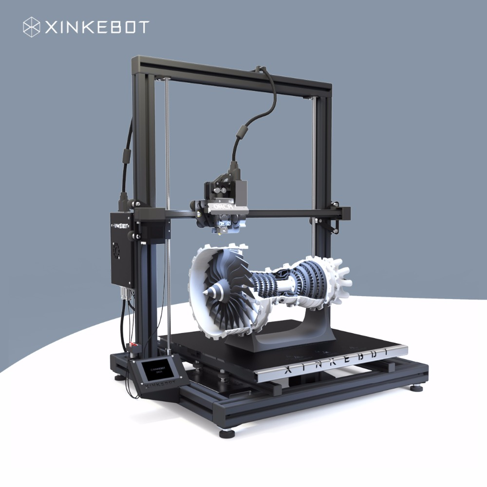 Large 3D Printer All Metal Frame Xinkebot Orca2 Cygnus Dual Extruder 3D Printer 1.3x1.3x1.6ft Build Size 0.05mm Resolution xinkebot 3d printer orca2 cygnus dual extruder high resolution big impressora 3d with free filament