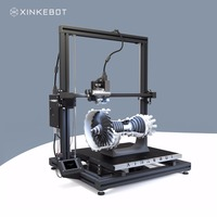 Large 3D Printer All Metal Frame Xinkebot Orca2 Cygnus Dual Extruder 3D Printer 1.3x1.3x1.6ft Build Size 0.05mm Resolution