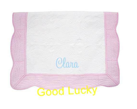 Monogram Crib Blanket Heirloom Quilt